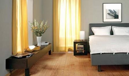 地板主要铺装于客厅,卧室,地台等位置的地面.