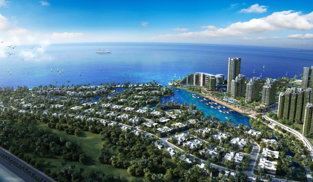 """森林城市定位为""""全球未来绿色智慧城市的典范""""."""